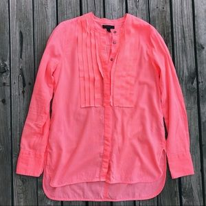 J. Crew Grosgrain Ribbon Shirt In Neon